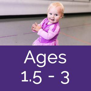 girl toddler in dance class at Mahogany Dance Arts, Calgary dance studio for kids